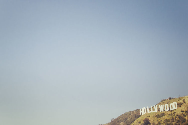 Architecture Blue Blue Sky Day Hill Hollywood Hollywood Sign Minimalism Minimalobsession Nature No People Outdoors Sky Sunny Tree