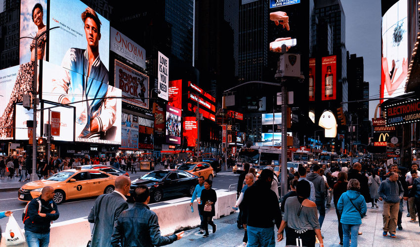 Architecture Billboard Building Exterior City Large Group Of People New York People Times Square NYC Travel Destinations