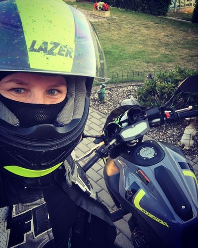 Relaxing my hobby Love This  Myworld Mt07 Yamaha Helmet Blue Eyes Woman Czech Republic MotoGirl Woman Portrait Ready To Ride To Be Happy Travel Me