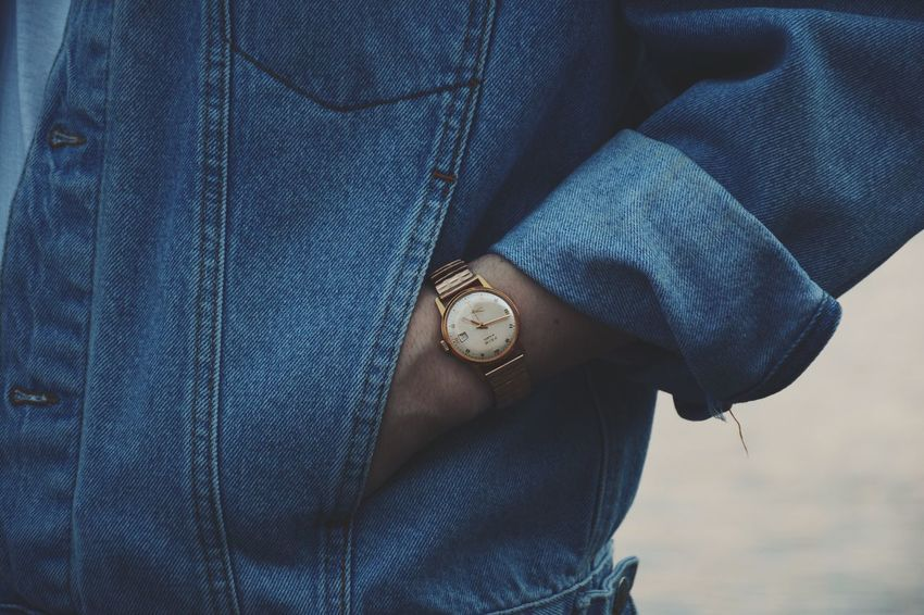 It's time ⌚️ Jeans Midsection Casual Clothing Pocket  One Person Real People Men Human Body Part Close-up Lifestyles Wristwatch Human Hand Leisure Activity Denim Jacket Outdoors Standing Watch Low Section Belly Day Lightroom Nikon Streetphotography EyeEm Selects