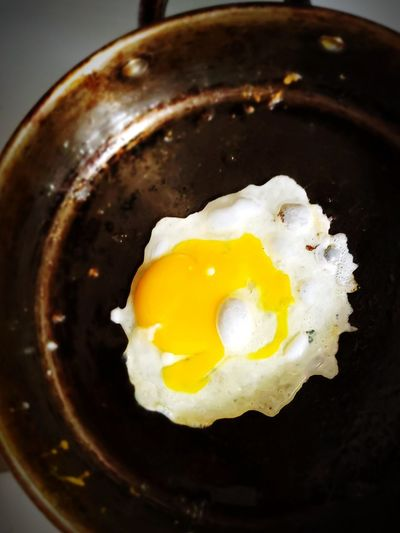 cooking eggs.