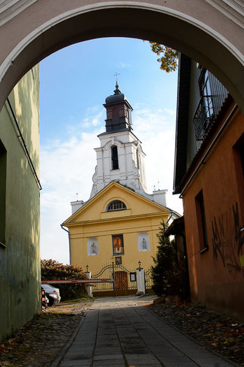 St. Bartholomew Church in Uzupis in Vilnius (Lithuania) Bartholomew Church Lithuania Uzupio Vilnius Alley Arch Building Exterior District No People Place Of Worship Religion Spirituality Uzupis