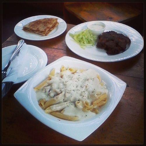 Yumm.. Food Pasta Chickenchap Latelunch