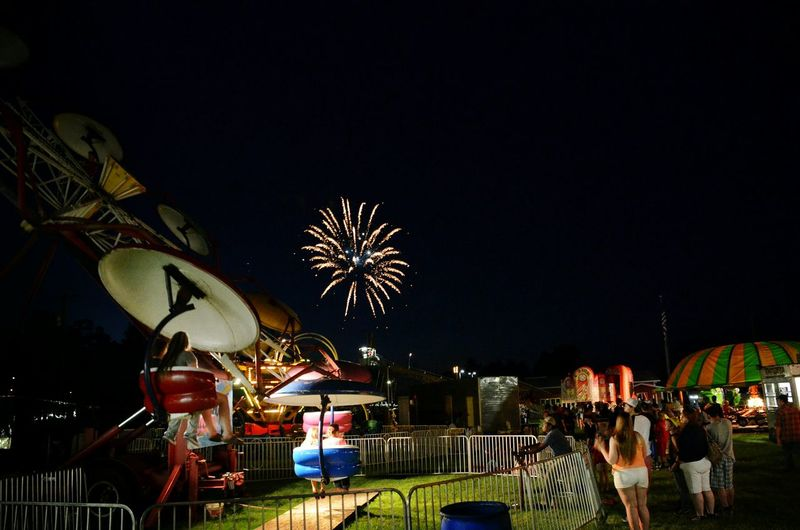 Night Photography Fireworks County Fair Carnival Rides Fourth Of July Nighttime Lights Check This Out Small Town USA People Photography Fairground