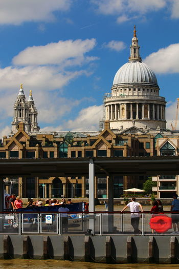 Dome Architecture City Summer In London River Thames Bank LONDON❤ EyeEm LOST IN London 3XSPUnity Architecture St Paul's Cathedral Urban Skyline Large Group Of People Postcode Postcards Lost In London
