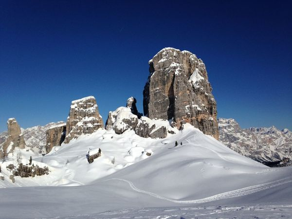 Blue Sky Cinque Torri Cortina D'Ampezzo Dolomites, Italy Mountains Nature Photography No People Skiing Snow Sunny Day Super 8 White Winter The Great Outdoors - 2016 EyeEm Awards