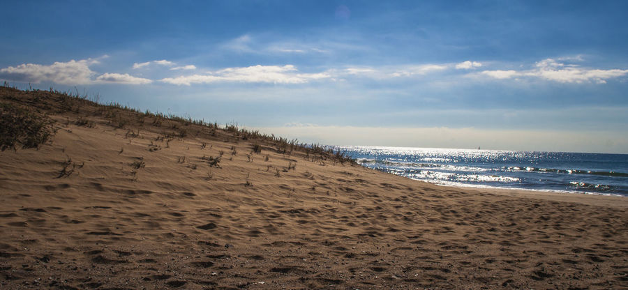 Beach Calblanque Cartagena Horizon Over Water Sand Sea Sky Tranquil Scene Water