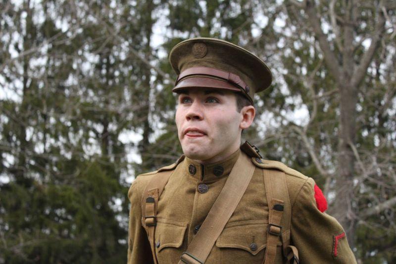 Uniform Military Uniform Military Portrait Soldier Wwi Army Headshot Uniform USA Outdoors