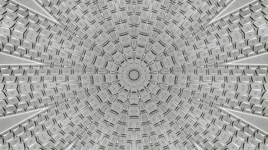 Pattern Letters Numbers Metallic Abstract Kaleidoscope Keyboard