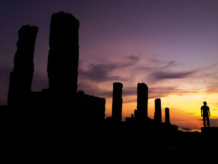 when the sun goes down Ancient Ancient Civilization Archaeology Architectural Column Architecture Beauty In Nature Building Building Exterior Built Structure Cloud - Sky History Indonesia Photography  Indoors  Nature No People Orange Color Outdoors Scenics - Nature Silhouette Sky Sunset The Past Travel Destinations Traveler