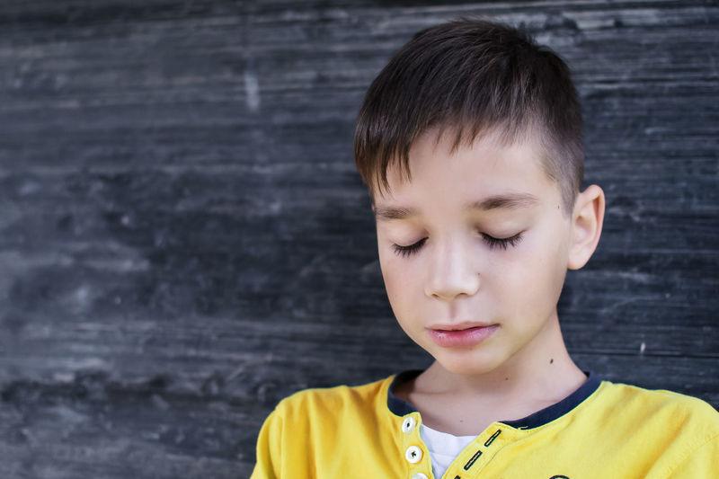 Blackboard  Boy Boyhood Child Childhood Children Close Eyes Face Portrait Young