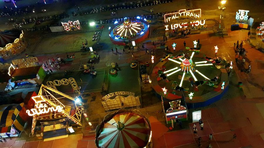 carnival view from a ferris wheel Carnival Top View Night Celebration First Eyeem Photo