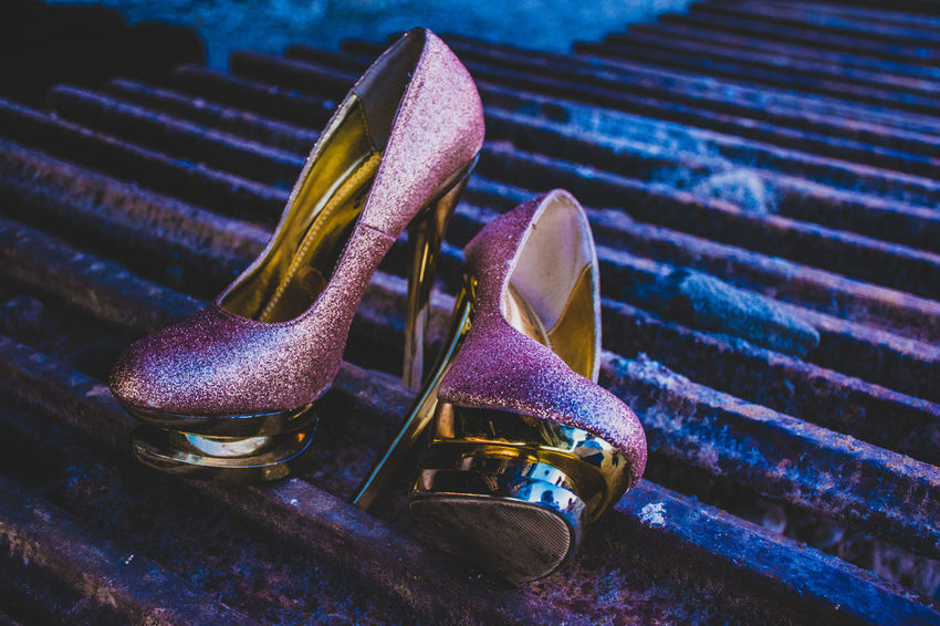 Focus On Foreground Metal No People Still Life Close-up Rusty Day Pattern Abandoned High Angle View Shoe Iron Iron - Metal HighHeels Sexyshoes Cool Cool_capture_ Eye4photography  Bestoftheday Best EyeEm Shot EyeEm Best Shots EyeEm Selects EyeEm Gallery The Week on EyeEm Pink Color