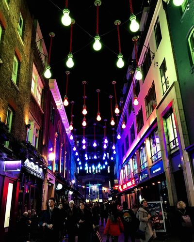 Lumiere in Carnaby Street Carnaby Street London LumiereLDN Lumiere 2018 Lumiere Festival Lumiere London Lumière Multi Colored Neon City