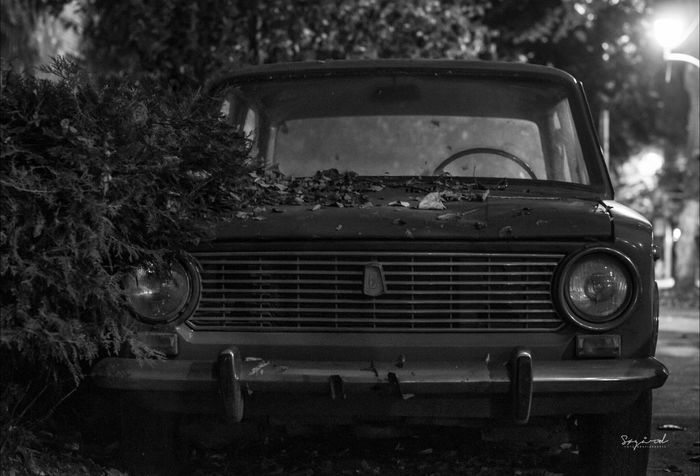 Old Lada, in Constanta, Romania. Image taken in assosiation with experience trip to Romania, this fall. Car Constanta Romania Blackandwhite