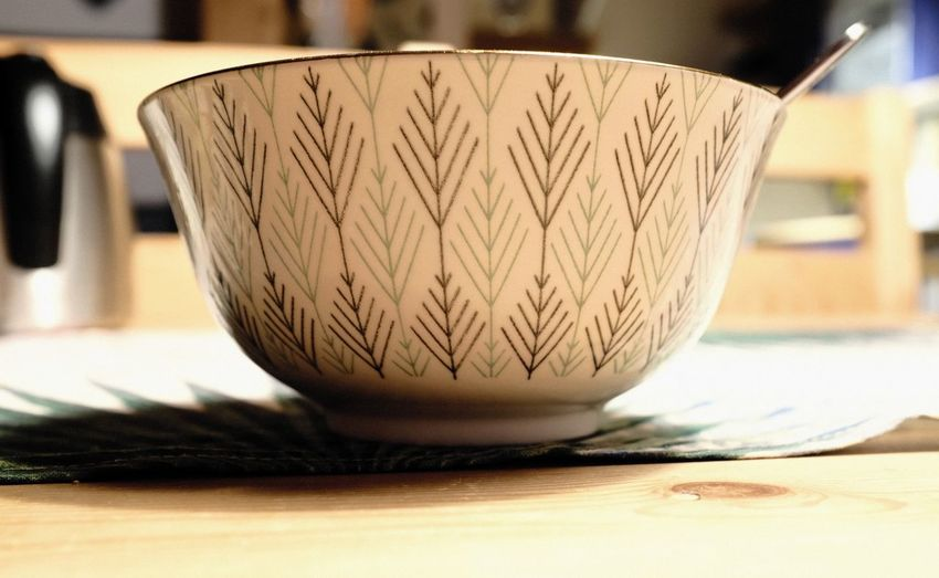 Close-up Indoors  Still Life Focus On Foreground Table Wood - Material Pattern Kitchen Utensil Design Art And Craft Household Equipment Craft Bowl