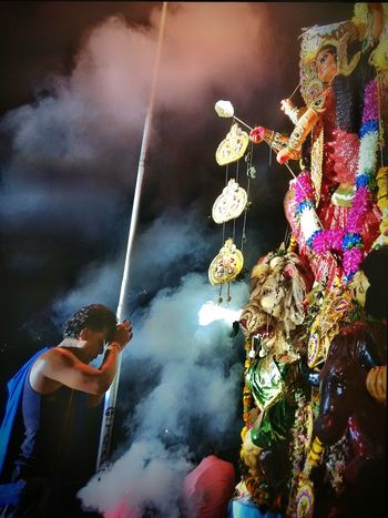 Durgamaa Durgapuja Blessings Devotions Devotee Heritage Culture Religious  Worshiping God Worshipping Worship India Dussehra Celebration Dussehra