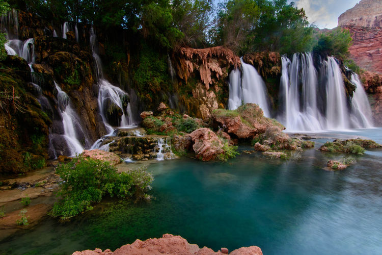 Beauty In Nature Cliff Day Havasupai Havasupai Falls Motion Nature No People Outdoors Rock - Object Scenics Travel Water Waterfall