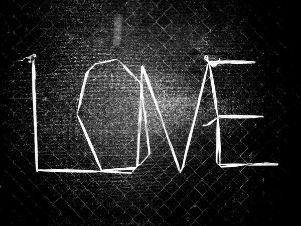 No People Close-up Day Love Love ♥ Text Mesh Wire Fence