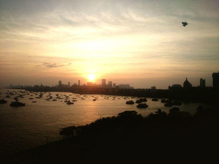 Sunset Mumbai Tajhotel Gatewayofindia