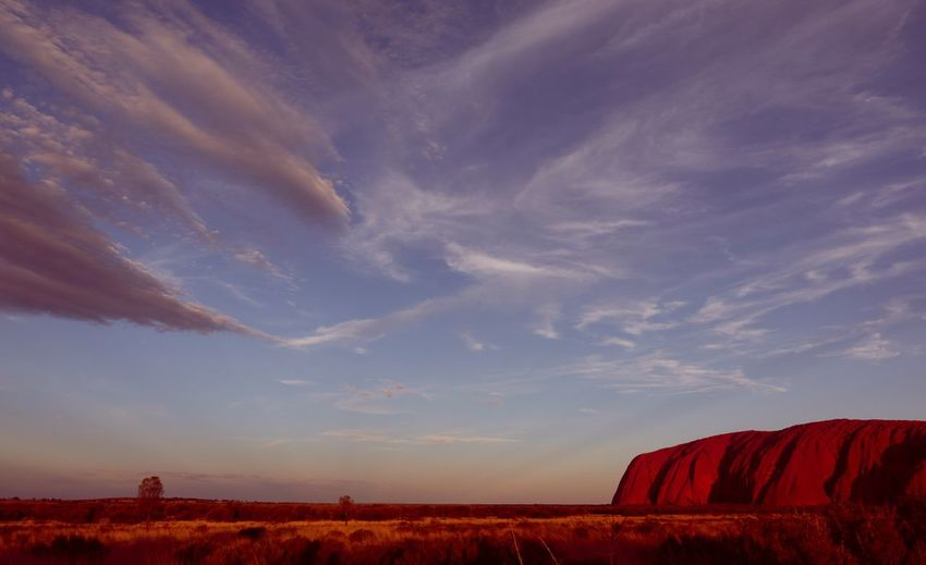 Uluru at sunset Uluru-Kata Tjuta National Park Uluru Kata Tjuta Uluru Sonyrx100v Landscape Environment Land Beauty In Nature Red No People