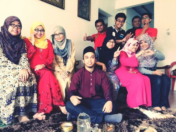open house with schoolmates..
