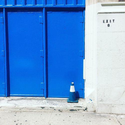 Blue Building Exterior Architecture Entrance Door Day Built Structure