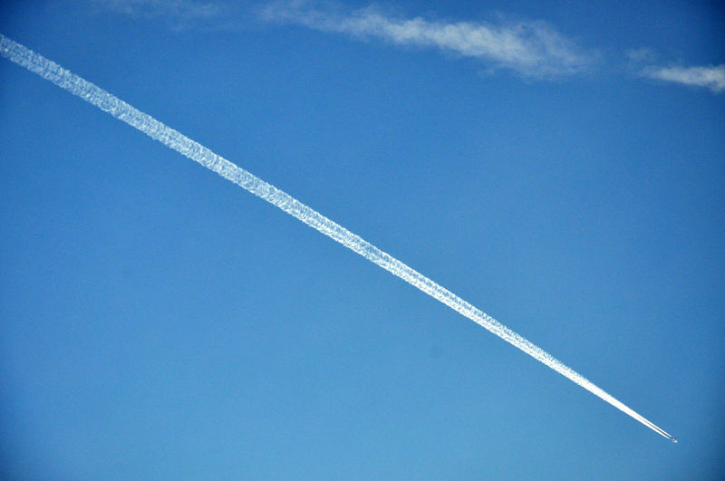 line of air plane Air Vehicle Airplane Beauty In Nature Blue Clear Sky Contrail Day EyeEmNewHere Long Long Goodbye Low Angle View Nature No People Outdoors Scenics Sky Vapor Trail White
