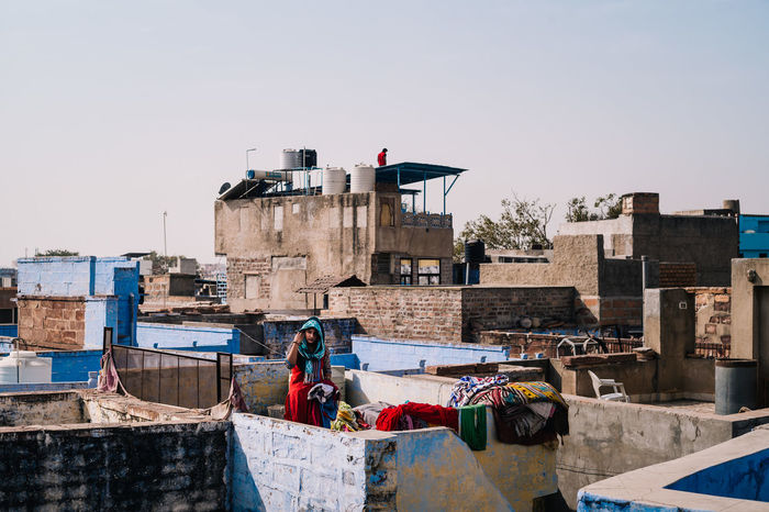 Jodhpur rooftops Travel India Urban Clear Sky Sky Building Exterior Architecture