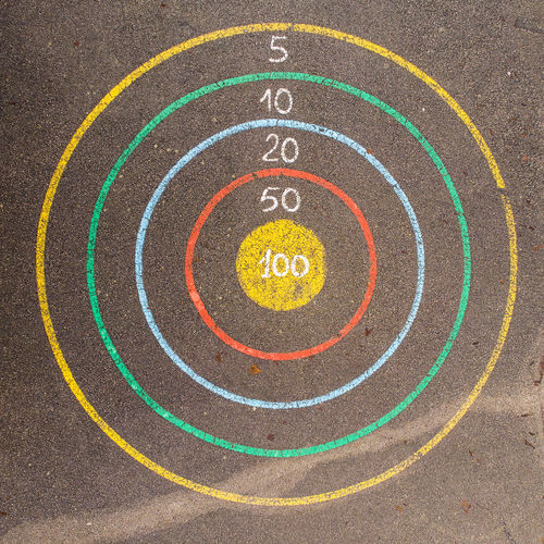 Aerial View Target Playground Playing Number Circle Circles Childhood Playing Field Sports Track First Place  Outdoor Play Equipment Slide - Play Equipment Schoolyard