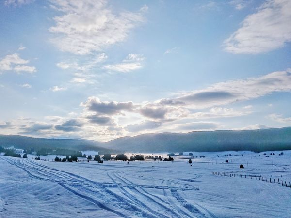 Walking Around Winter Montains    Contre-jour Sunset Snow Landscape Non-urban Scene Relaxing The Great Outdoors - 2016 EyeEm Awards Clouds And Sky Outdoors Tranquil Scene Sky And Clouds Scenics Color Palette