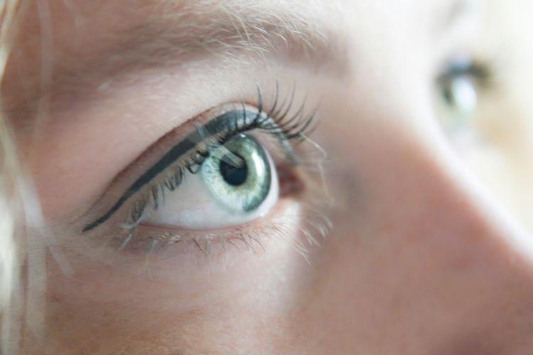 Close-up portrait of eye