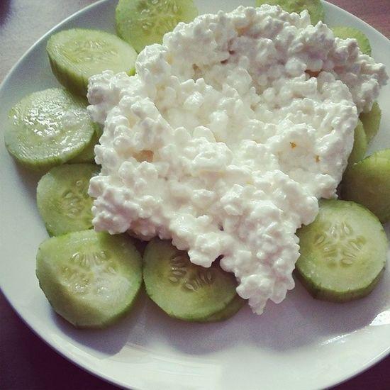 Mittagessen Gurke Hüttenkäse Abnehmen wir2punkt0