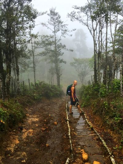 the way to the fog Adventure Casual Clothing Fog Forest Leisure Activity Lifestyles Men Nature One Person Outdoors Be. Ready. EyeEm Ready   This Is Masculinity