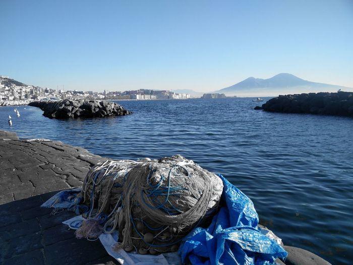 EyeEmNewHere EyeEm Selects Napoli ❤ Napoli Napoli La Più Bella Del Mondo Vesuvio Blue Blue Sky Sea Mountain Fishing Clear Sky Scenics Outdoors Beauty In Nature