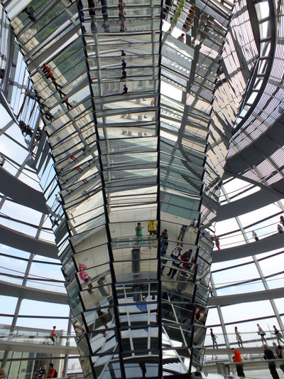 Low angle view of the reichstag