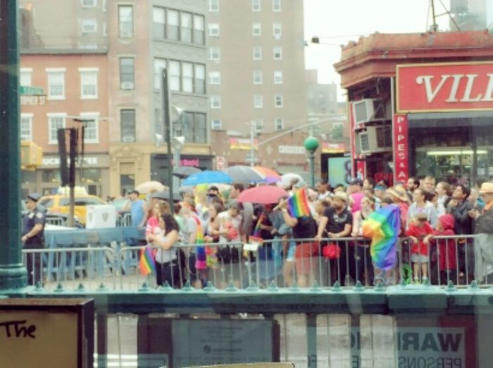 I'm not a hater!! Christopherstreet Parade 7thave Crowd People Pic Picture Aroundmyjob Their Day