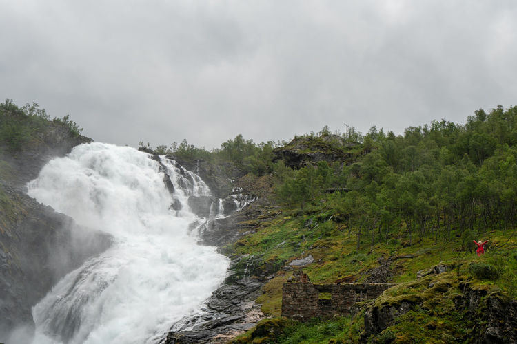 Landscape of Norway, Kjosfossen Flamsbana Kjosfossen Norway Beauty In Nature Cloud - Sky Day Environment Flamsbana Flowing Flowing Water Flåm Forest Growth Land Motion Nature No People Non-urban Scene Outdoors Plant Power In Nature Rock Scenics - Nature Sky Tree Water Waterfall