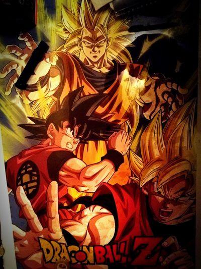 Super saiyan 1 2 3 Goku Supersaiyen Master Dragonballz Dragonballz Close-up History Old-fashioned No People Indoors  Day