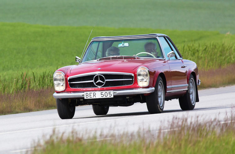 Mercedes car Pleasure Beautiful Car Cars Classic Classic Cars Country Driver Field Fields Interesting Joy Ride Lifestyle; Mercedes Mercedes Benz Old Outdoors Red Road Rural Speed Stylish Summer Transportation Vintage Cars