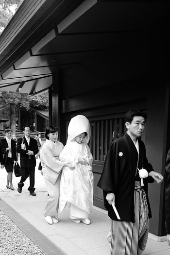 Japanese Wedding Japanese Bride Wedding Ceremony Tokyo Japan Feel The Journey Original Experiences Japanese Culture Black And White Photography Walking Down The Aisle Ultimate Japan Long Goodbye