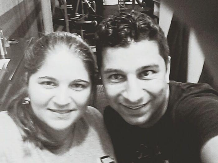Primeiro dia de academia com minha irmã!