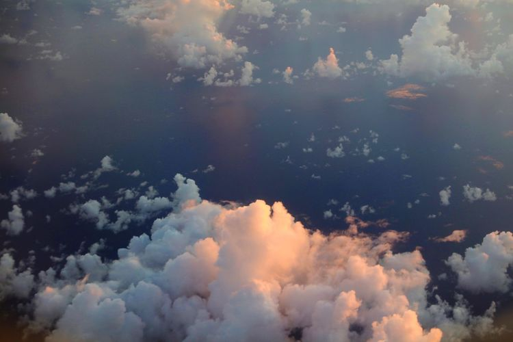 Cloud - Sky Sky Beauty In Nature Nature Scenics - Nature Cloudscape Environment No People Tranquility Space Sunset Backgrounds Idyllic Outdoors City Aerial View Tranquil Scene Dramatic Sky Transportation Meteorology