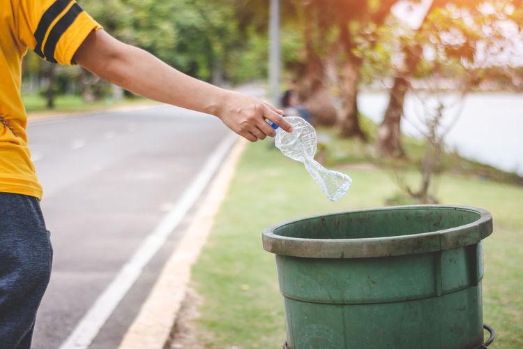Garbage Dump Green Color Plastic Bottle Garbage Garbage Bag Garbage Bin Recycling Waste
