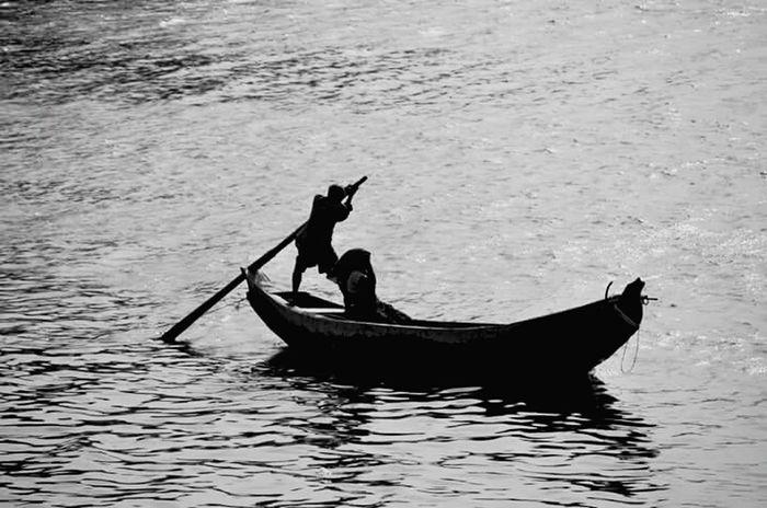Boat Women Men Riding Dark Destiny Make Magic Happen Snapshots Of Life The Traveler - 2015 EyeEm Awards Going The Distance