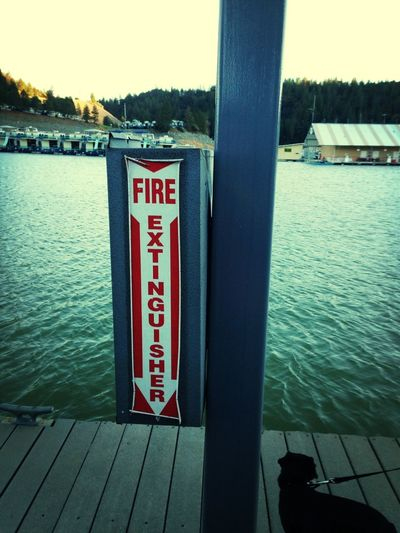 A Fire Extinguisher On The Lake?