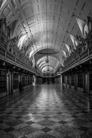Old Library Arquitecture Books Library Mafra Portugal Travel Amazing Architectural Column Architecture Blackandwhite Built Structure Europe Indoors  No People Old Library