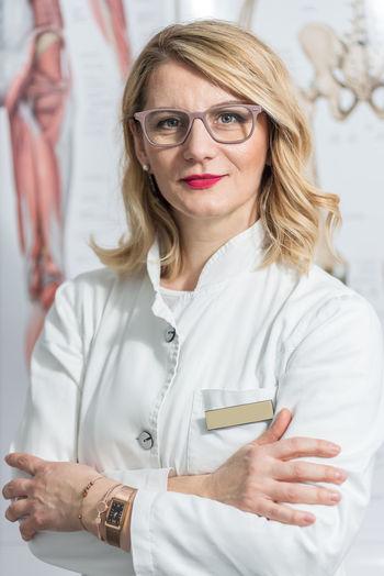 Mid adult woman wearing eyeglasses