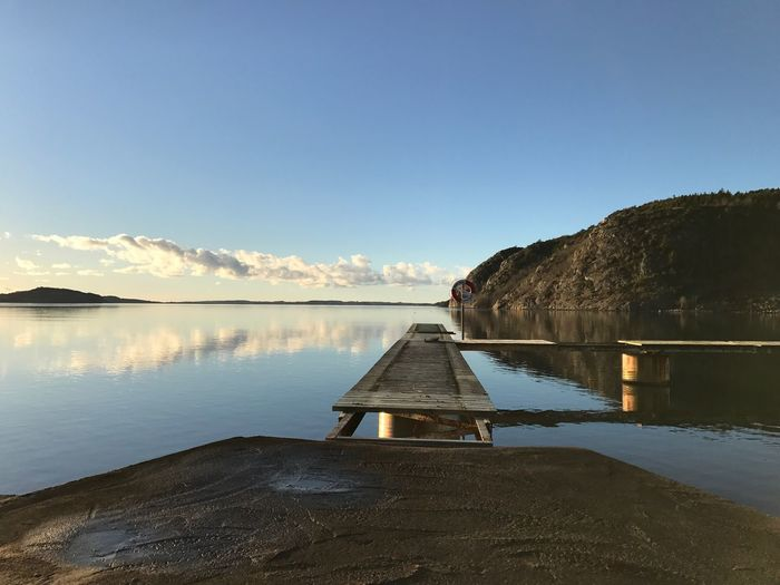 Quiet Calm Sea Jetty Bridge Water Sky Scenics - Nature Tranquility Tranquil Scene Reflection Beauty In Nature My Best Photo