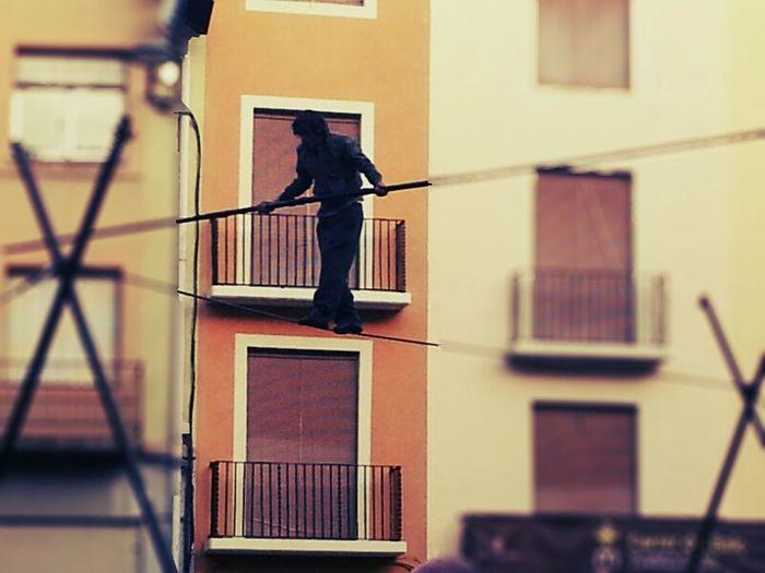 Funambule Fira Mediterrània 2014 Streetphotography Silhouette